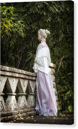 Period Lady On Bridge Canvas Print by Joana Kruse