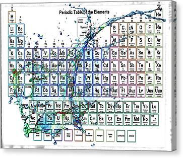 Periodic Table Colorful Liquid Splash Canvas Print