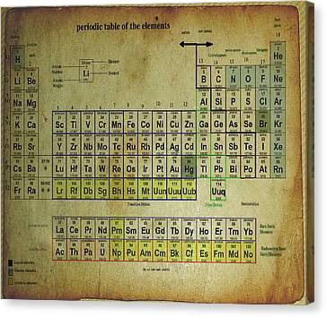 Canvas Print featuring the mixed media Periodic Table Of Elements by Brian Reaves
