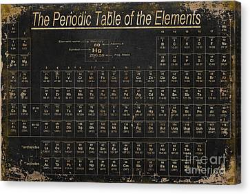 Table Canvas Print - Periodic Table Of The Elements by Grace Pullen