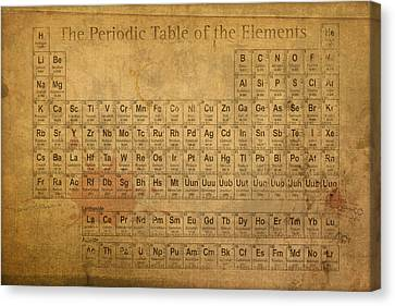Vintage Canvas Print - Periodic Table Of The Elements by Design Turnpike