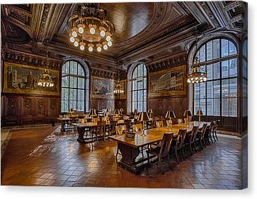 Books Canvas Print - Periodical Room At The New York Public Library by Susan Candelario