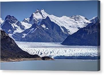 Perito Moreno Glacier - Snow Top Mountains Canvas Print by Kim Andelkovic