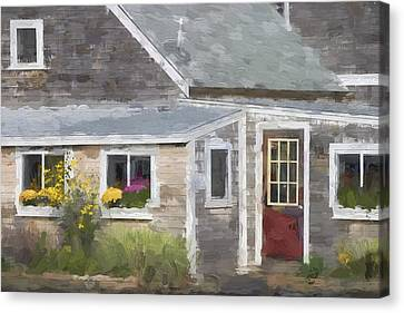 Perkins Cove Maine Painterly Effect Canvas Print by Carol Leigh