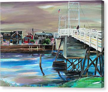 Scott Nelson Canvas Print - Perkins Cove Maine by Scott Nelson