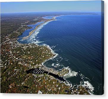Perkins Cove, Ogunquit Beach, Ogunquit Canvas Print by Dave Cleaveland