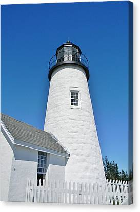 Canvas Print featuring the photograph Pemaquid Lighthouse by Jean Goodwin Brooks