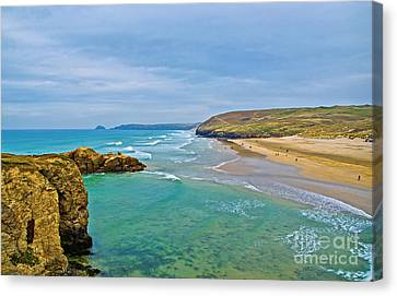 Perranporth Beach Canvas Print