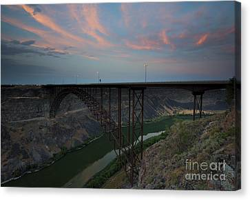 Perrine Bridge Sunset Canvas Print by Mike  Dawson