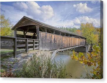 Portal Canvas Print - Perrine's Covered Bridge by Joan Carroll