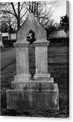 Perry Family Grave Marker Canvas Print by Robert Hebert