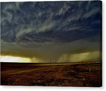 Perryton Supercell Canvas Print by Ed Sweeney