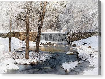 Perryville Dam Canvas Print by Robin-Lee Vieira