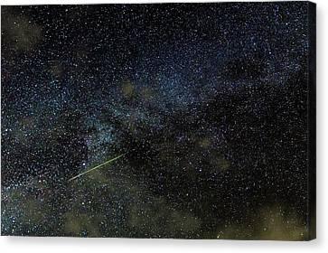 Perseid Meteor Track Over Hawaii Canvas Print by Babak Tafreshi