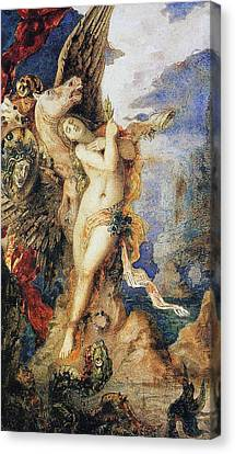 Gorgon Canvas Print - Perseus And Andromeda by Gustave Moreau