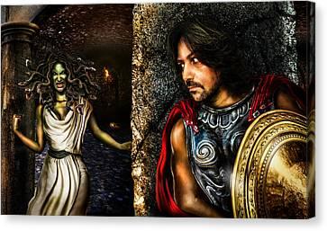 Perseus And Medusa Canvas Print by Alessandro Della Pietra