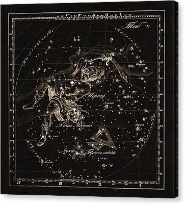 Perseus Constellations, 1829 Canvas Print by Science Photo Library