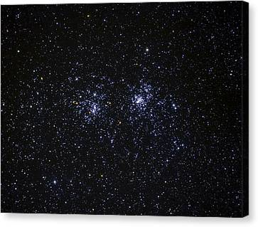 Canvas Print featuring the photograph Perseus Double Cluster Ngc 869 by Dennis Bucklin