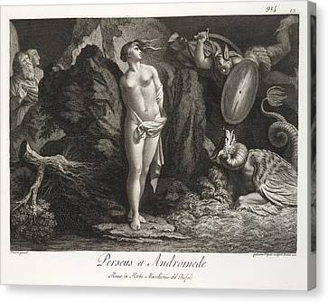 Perseus Et Andromede Canvas Print by British Library