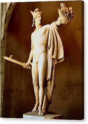 Perseus With The Head Of Medusa  Canvas Print by Antonio Canova