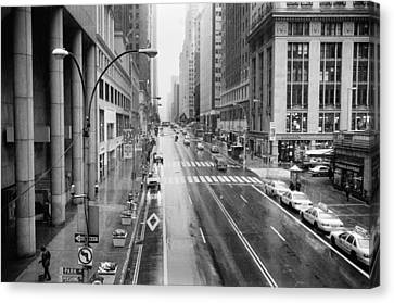 Canvas Print featuring the photograph Pershing View 42nd Street Nyc by Dave Beckerman