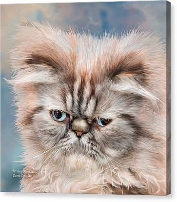 Persian Portrait Canvas Print by Carol Cavalaris