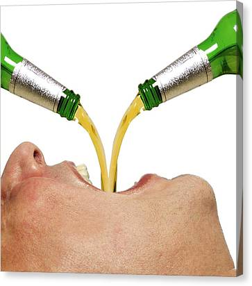 Person Drinking Alcohol Canvas Print by Victor De Schwanberg