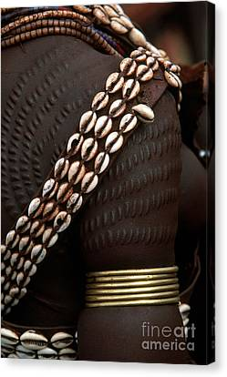 Person Showing Cowry Shell Detail Canvas Print