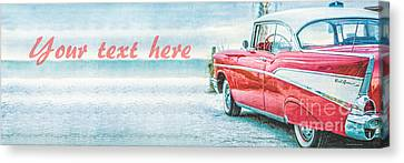 Free Personalized Custom Beach Art Canvas Print by Edward Fielding