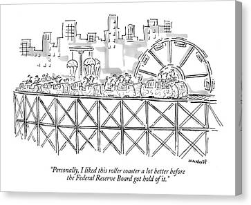 Personally, I Liked This Roller Coaster A Lot Canvas Print
