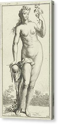 Personification Of Beauty, Arnold Houbraken Canvas Print by Arnold Houbraken