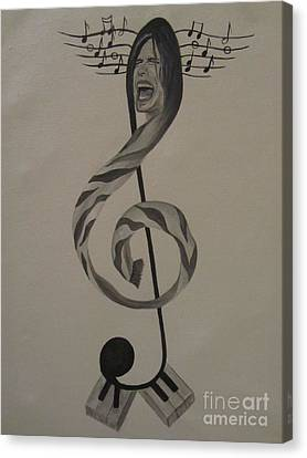 Personification Of Music Canvas Print by Jeepee Aero