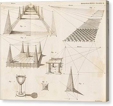 Perspective Diagrams, 19th Century Canvas Print by Science Photo Library