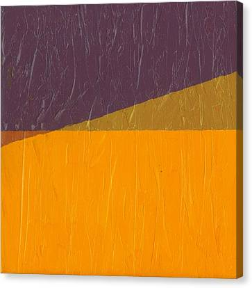 Orange Abstract Art Canvas Print - Perspective In Color Collage 11 by Michelle Calkins