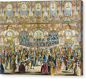 Perspective View Of The Ballroom Canvas Print by French School