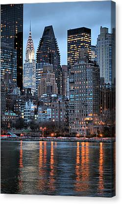 New York City Skyline Canvas Print - Perspectives V by JC Findley