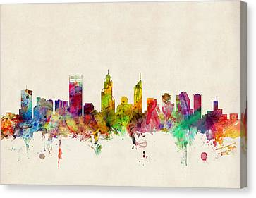 Perth Australia Skyline Canvas Print by Michael Tompsett