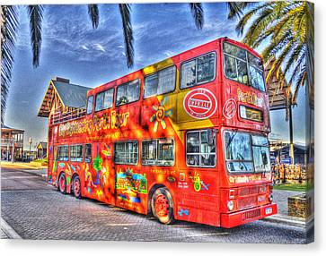 Perth Tour Bus Canvas Print