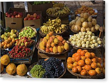 Peru, Pisac, Market Produce For Sale Canvas Print by Jaynes Gallery
