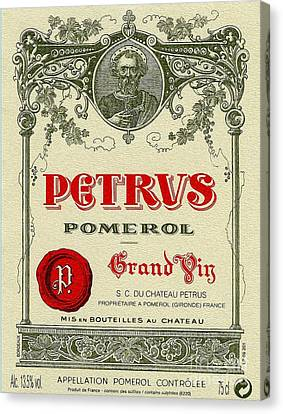 Perus Label Canvas Print