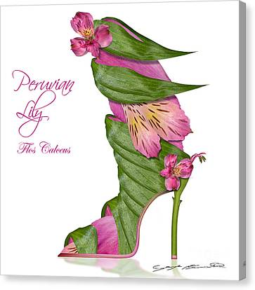 Peruvian Lily Flos Calceus Canvas Print by Blanchette Photography