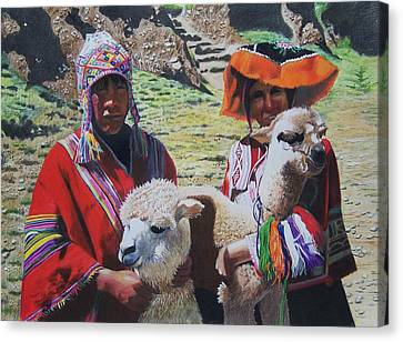 Peruvians Canvas Print by Constance Drescher