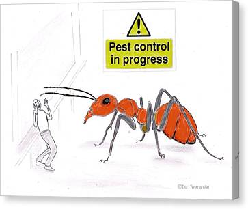 Pest Control Canvas Print by Dan Twyman