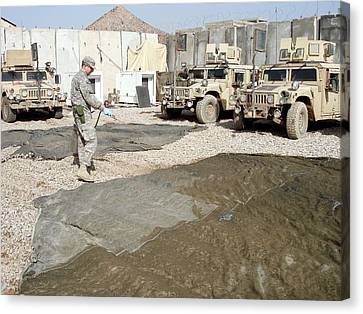 Iraq Canvas Print - Pesticide Treatment by Seth Britch/us Department Of Agriculture