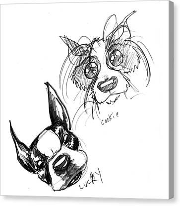 Pet Sketches 3 Canvas Print