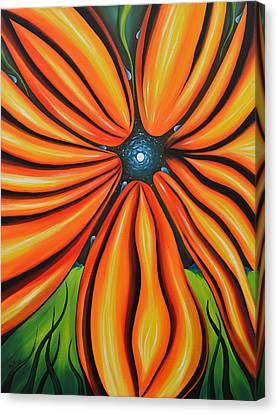 Petal To The Mental Canvas Print by Tony Oakey