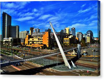 San Diego California Baseball Stadiums Canvas Print - Petco Park by See My  Photos