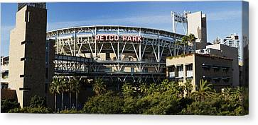 San Diego California Baseball Stadiums Canvas Print - Petco Park by Stephen Stookey
