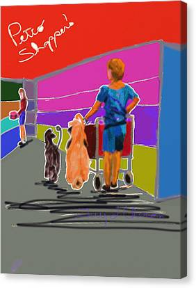 Petco Shoppers Canvas Print by Terry  Chacon