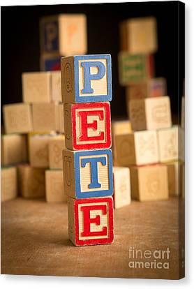 Pete - Alphabet Blocks Canvas Print by Edward Fielding